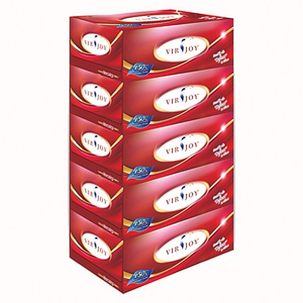 Virjoy Super Soft Facial Tissue, 5 Boxes