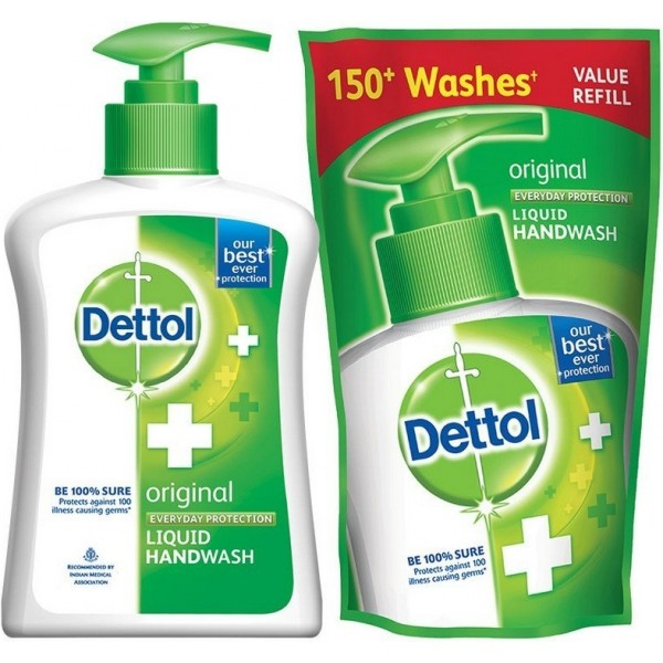 Dettol Original Liquid Hand Wash With Free Refill