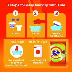 Tide Plus Jasmine & Rose Detergent, 6KG