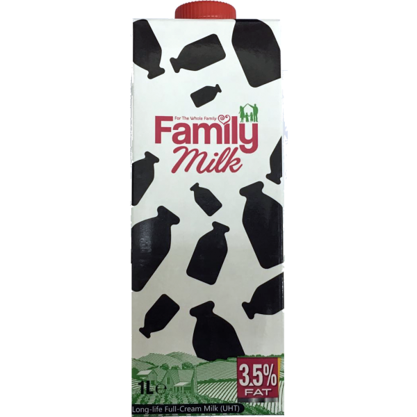 Family UHT Milk, 12x1L