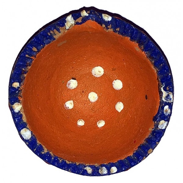 Assorted Triangular Clay Diya, Small
