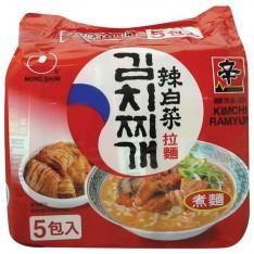 農心辣白菜拉麵 (五包裝)