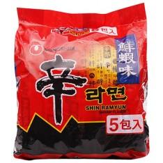 Nong Shim Shrimp Noodle (Pack of 5)