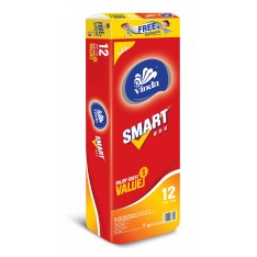 Vinda Smart Plus 3-ply Bathroom Tissue, 12s