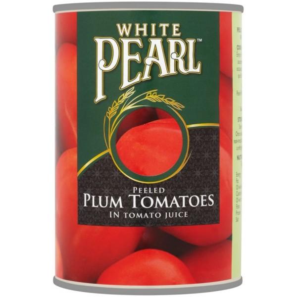 White Pearl Plum Tomatoes