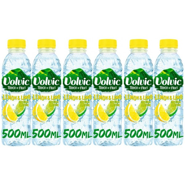 Volvic Touch Of Fruit Lemon & Lime, 6 x 500ml