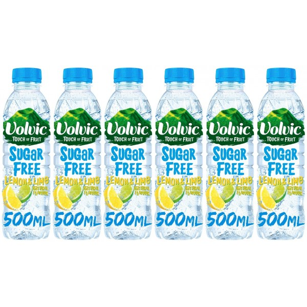 Volvic T.O.F. Sugar Free Lemon & Lime 6 x 500ml