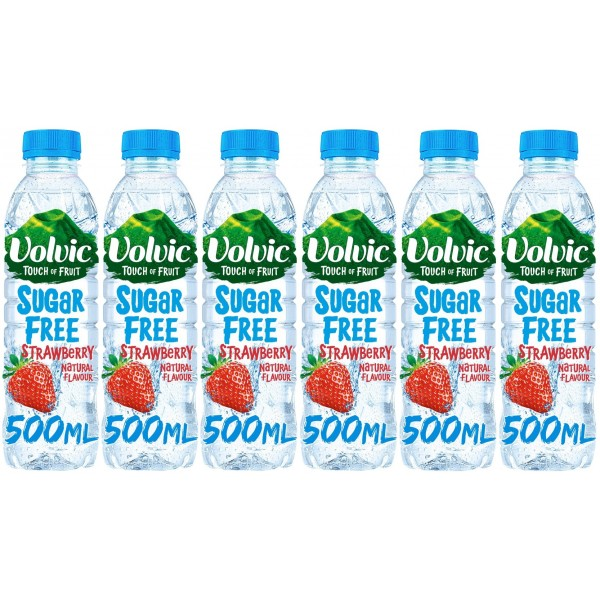 Volvic T.O.F. Sugar Free Strawberry 6 x 500ml