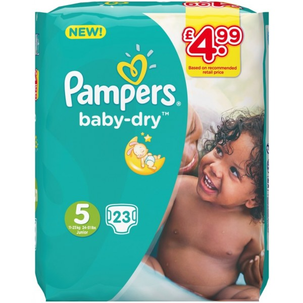 Pampers Baby Dry Junior, 23s