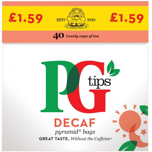 PG Tips Decaf Tea, 40s
