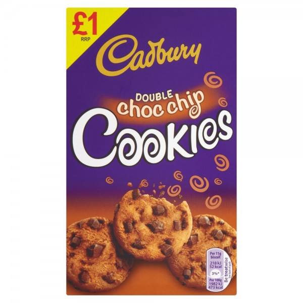 Cadburys Double Chocolate Chip Cookies