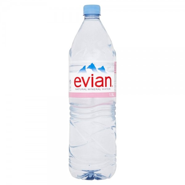 Evian Natural Mineral Water, 1.5L