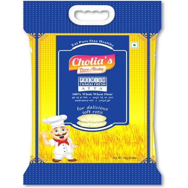 Cholia's Premium Chakki Fresh Atta, 5KG