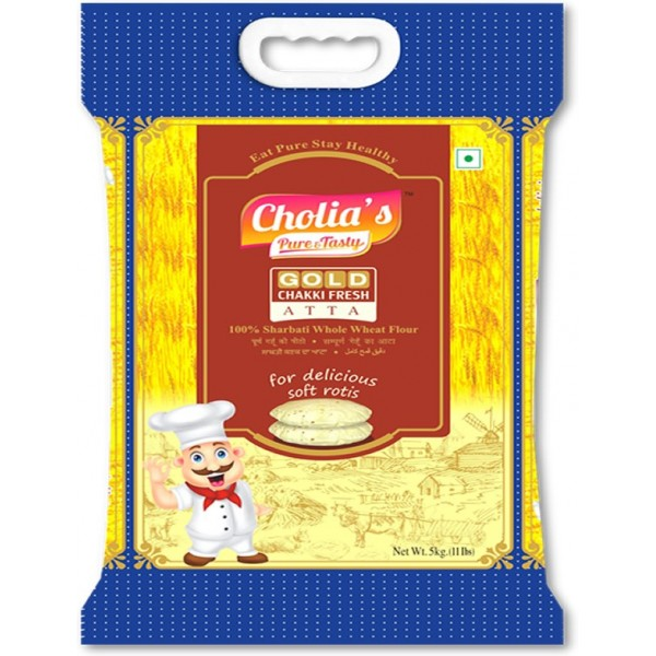 Cholia's Gold Chakki Fresh Atta, 5KG