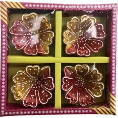 Earthen Diya, 4 Piece Set