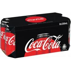 Coca Cola Zero Sugar Free, 330ml x 8