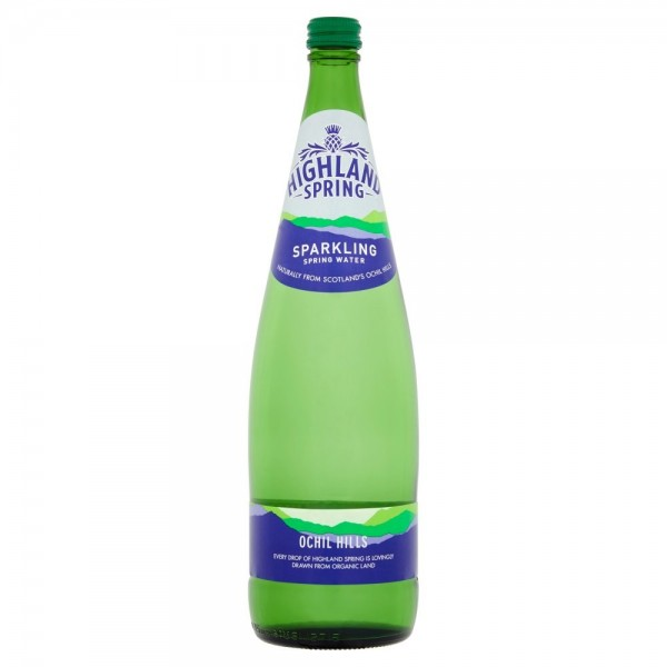 Highland Spring Sparkling Water, 6 x 1L