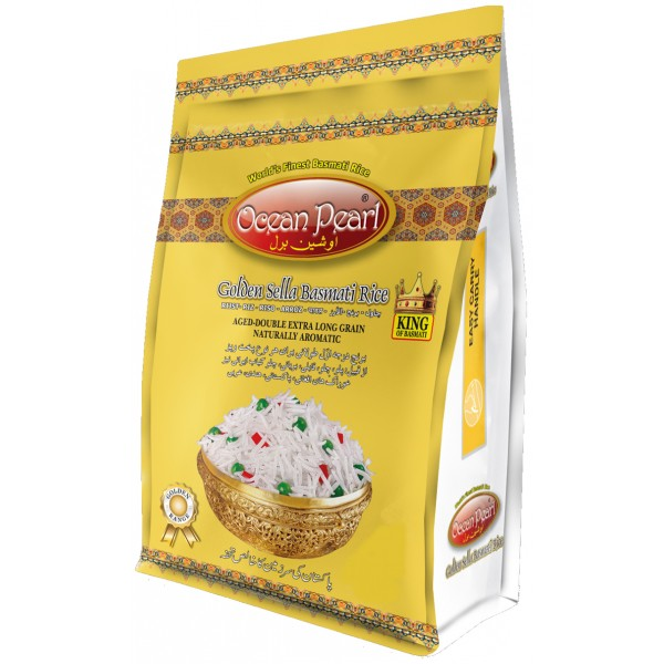 Ocean Pearl Golden Sella Basmati Rice, 5KG