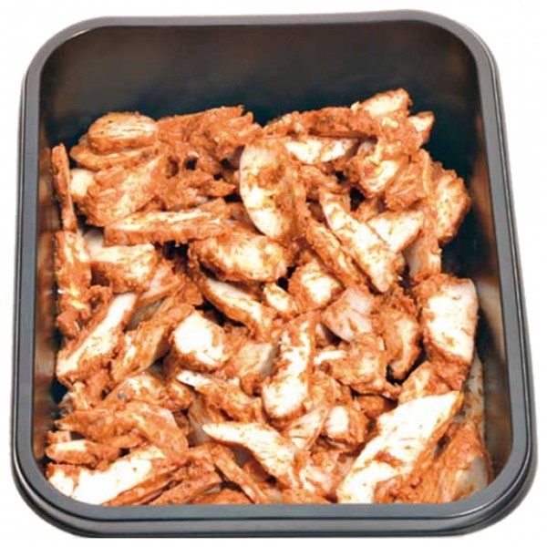 Cooked Chicken Tikka Strips, 1KG Polybag