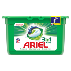 Ariel 3in1 Pods, Original (12 Wash)