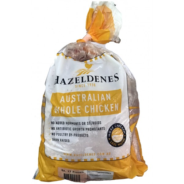 Hazeldene's Barn Raised Whole Chicken, 1.6KG