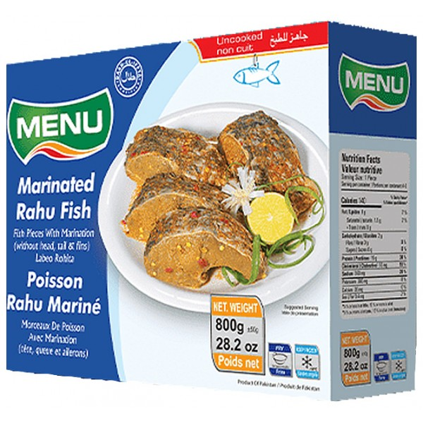Menu Marinated Rahu Fish, 800g