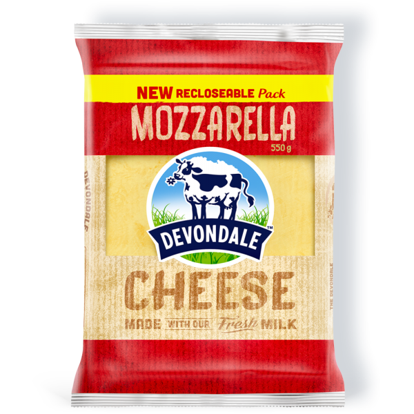 Devondale Shredded Mozzarella Cheese, 2KG