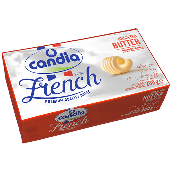 Candia Unsalted Butter, 200g