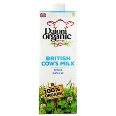 Daioni Organic Whole Milk, 1L