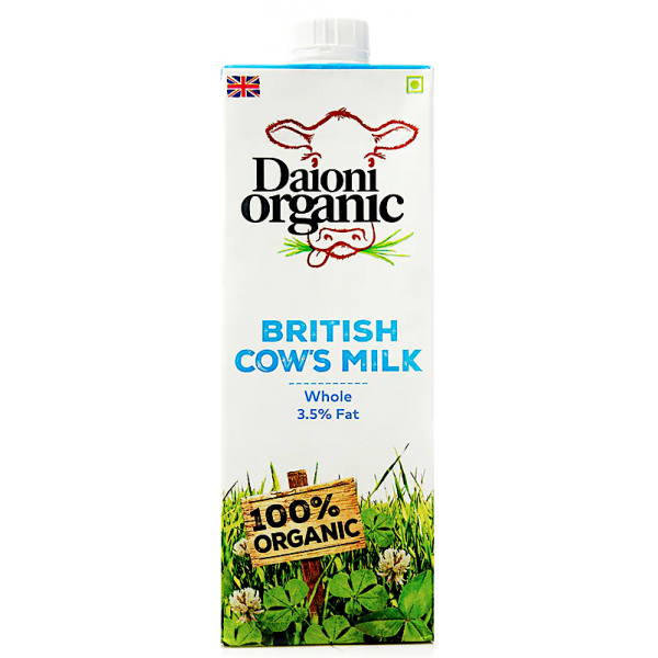 Daioni Organic Whole Milk, 1L