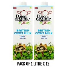 Daioni Organic Whole Milk, 1L x 12