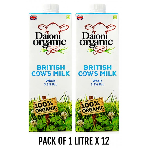 Daioni Organic Whole Milk, 1L x 12