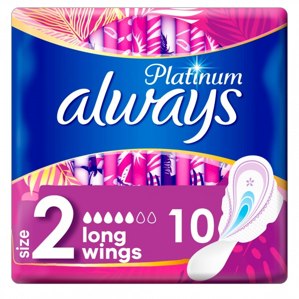 Always Platinum Long, 10 Pads
