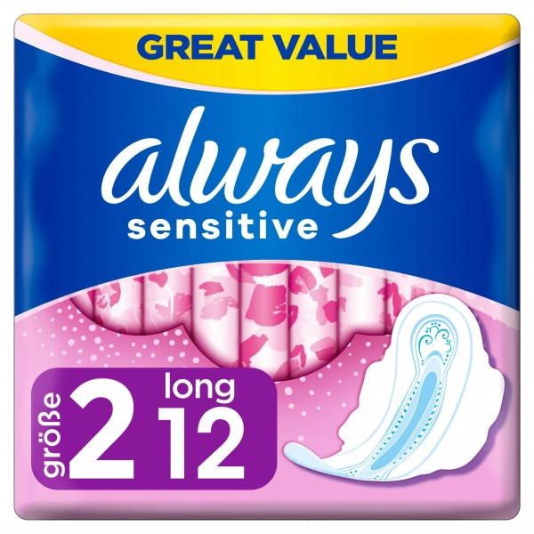 Always Sensitive Long Ultra Wings, 12s