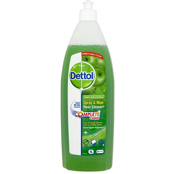 Dettol Spray & Wipe Floor Cleaner, Green Apple