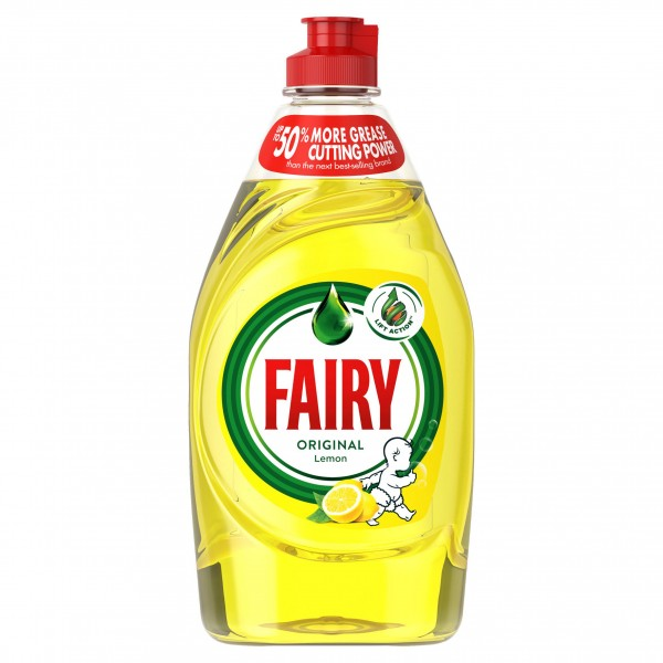 Fairy Lemon Washing Up Liquid Green with LiftAction
