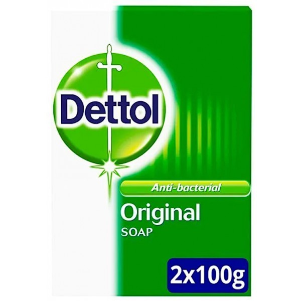 Dettol Anti-Bacterial Original Soap, 2 x 100g