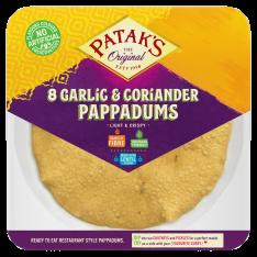 Patak's Garlic & Coriander Pappadums