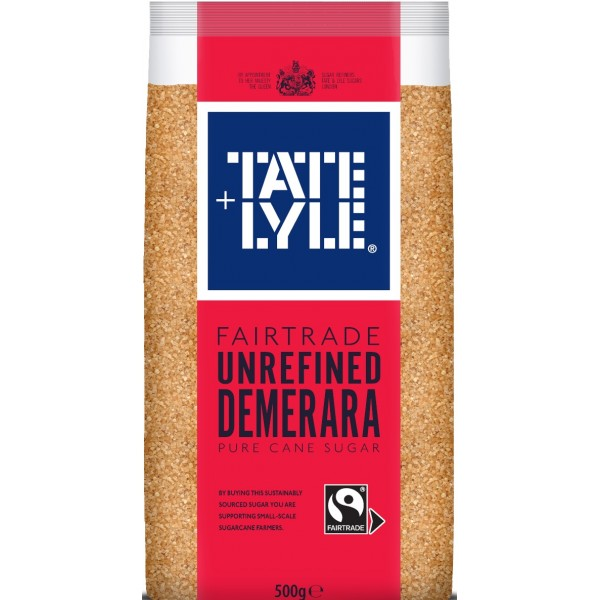 Tate & Lyle Fairtrade Unrefined Demerara Pure Cane Sugar, 500g