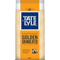 Tate & Lyle Fairtrade Golden Granulated Pure Cane Sugar, 1kg