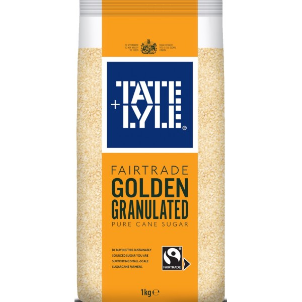 Tate & Lyle Fairtrade Golden Granulated Pure Cane Sugar, 1kg