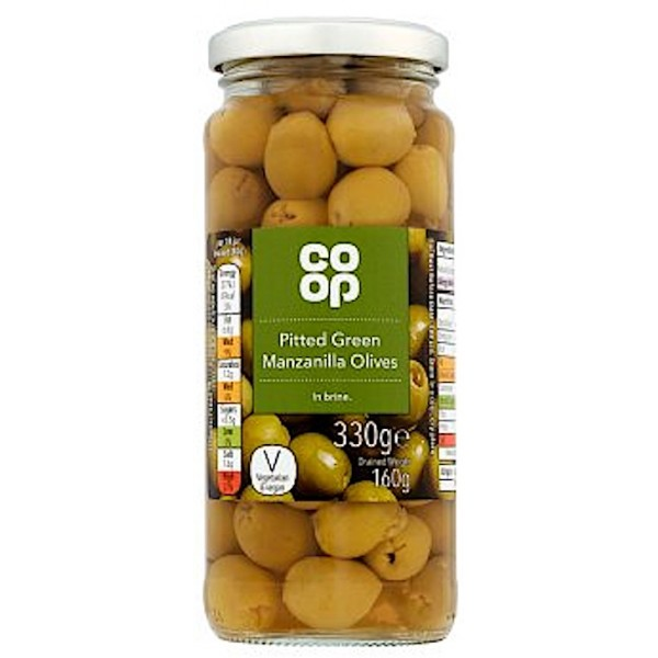 Co-op Pitted Green Manzanilla Olives in Brine