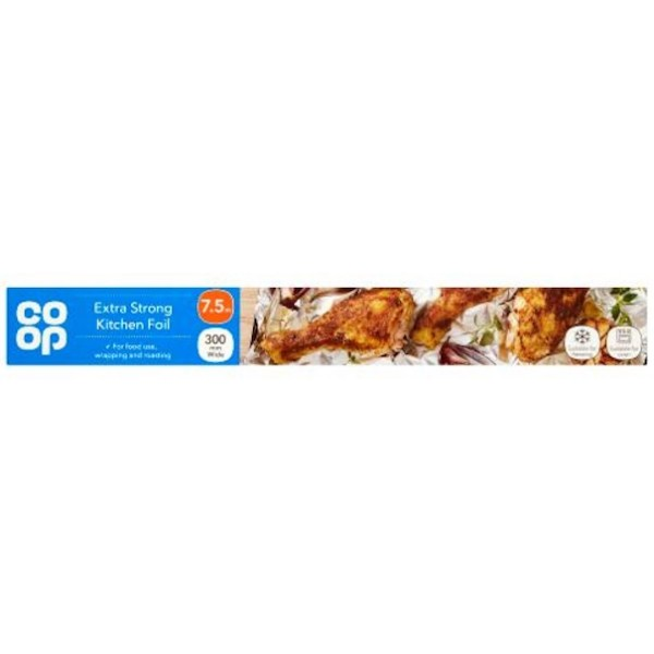 Co-op Extra Strong Kitchen Foil, 7.5m