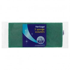 Heritage Sponge Scourers, 3s