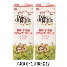 Daioni Organic Skim Milk, 1L x 12