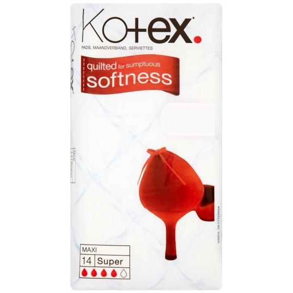 Kotex Maxi Super, 14 Pads