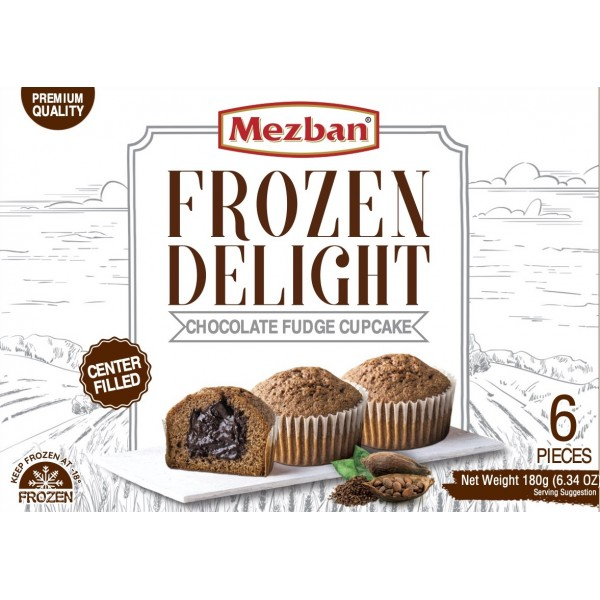 Mezban Chocolate Fudge Cupcake (6x30g)
