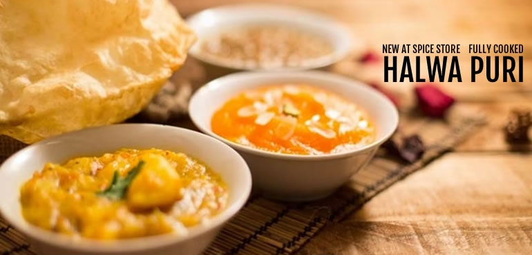 Ready made halwa puri, ready in minutes. Free delivery anywhere in Hong Kong.